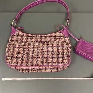 Villager Pink plaid shoulder bag.
